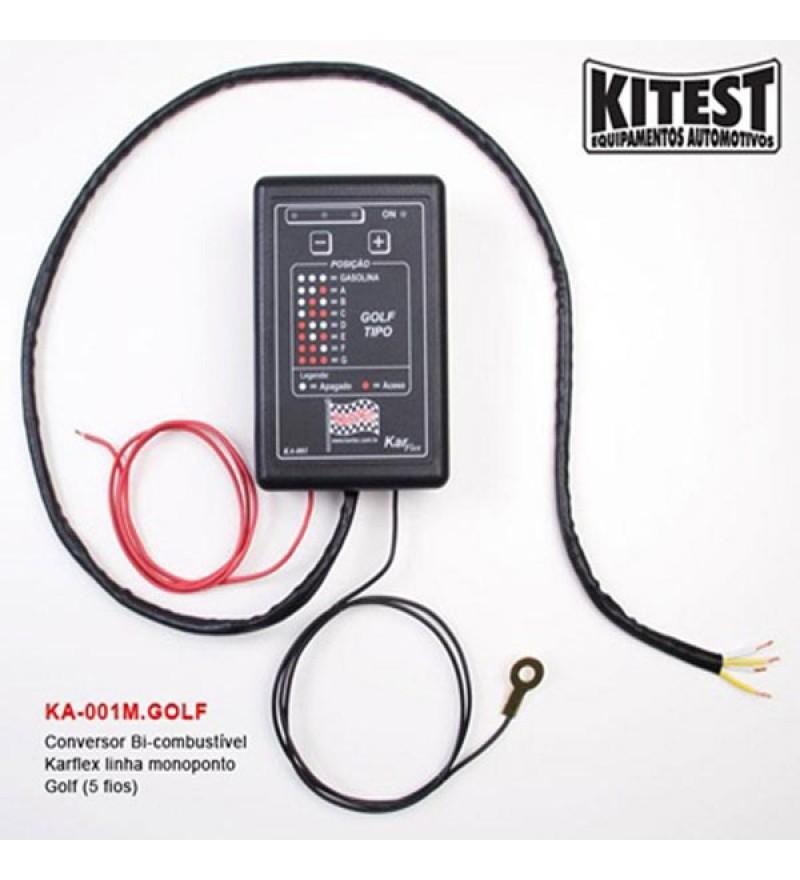 Conversor Bi-combustível karflex linha monoponto golf (5 fios)