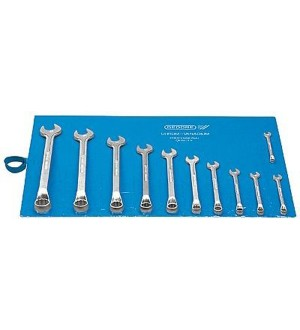Jogo de chave combinada 6 a 22 mm aço cromo vanádio com 11 peças. GEDORE 002.602