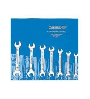 Jogo de chave fixas 6 a 22 mm aço cromo vanádio com 8 peças. GEDORE 004.603