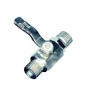 Válvula com esfera de fecho rápido rosca macho 3/8 NPT x 1/4 NPS  LUBEFER LUB-41A