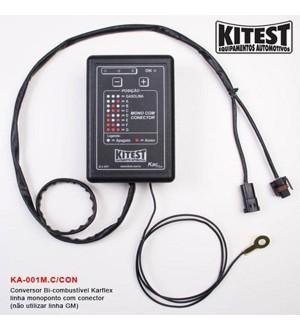 Conversor bi-combustível karflex linha monoponto com conector(não utilizar linha GM)