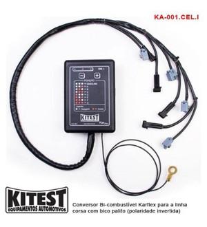 Conversor bi-combustível karflex para a linha corsa com bico palito (polaridade invertida)