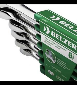 Jogo de Chaves Combinadas Speedy com Catraca 6 Peças - Belzer - 8556BJ